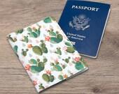 Passport cover cactus Passport cover summer Passport cover floral Document cover flowers Passport cover cacti Passport case floral CC_069