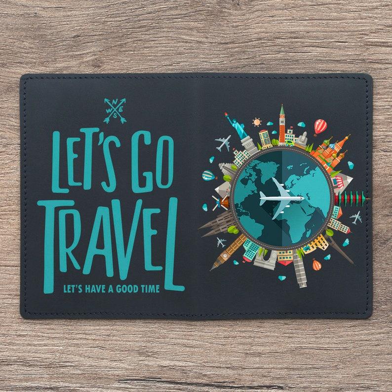 92e26044d82 Lets go travel Passport cover plain Passport leather Passport
