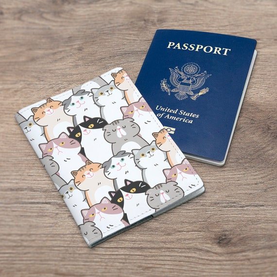 Cat Scratch Pad Multi-purpose Travel Passport Set With Storage Bag Leather Passport Holder Passport Holder With Passport Holder Travel Wallet