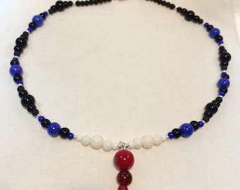 Leather Pride beaded necklace