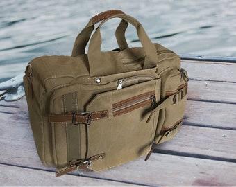 Laptop Backpack, Canvas backpack, messenger bag laptop, Convertible Backpack, crossbody bag women, duffle bag women, backpack canvas