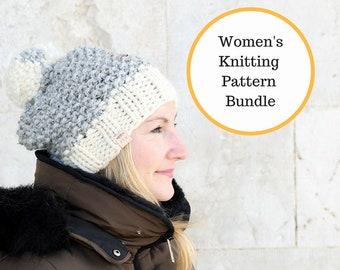 a6655643c96 Knitting Patterns   Women s hat pattern   Women s knit hat   Simple hat  pattern   Easy knitting pattern   Beanie pattern   Winter hats