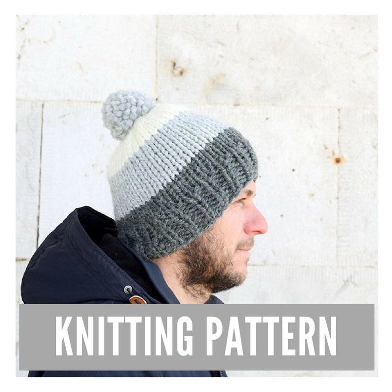 1cb7b54aef2 Knitting Pattern   Men s hat pattern   Easy knit men s
