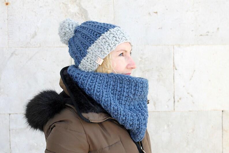 27ea1c1a88131c Mütze und Schal set /Hat und Schal Set / Winter Mütze / Loop / | Etsy