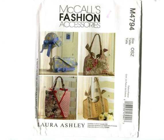 MCcall/'s 5641 Laura Ashley Fashion Hat Bags NEW Pattern