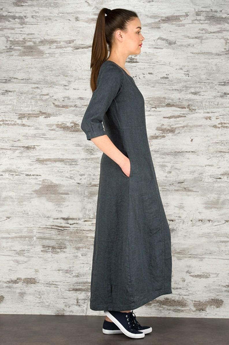 Long Linen Dress. Linen Maxi Dress. h3z7nSX8