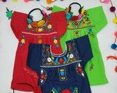 Embroidered Traditional Mexican Baby Girl Dress