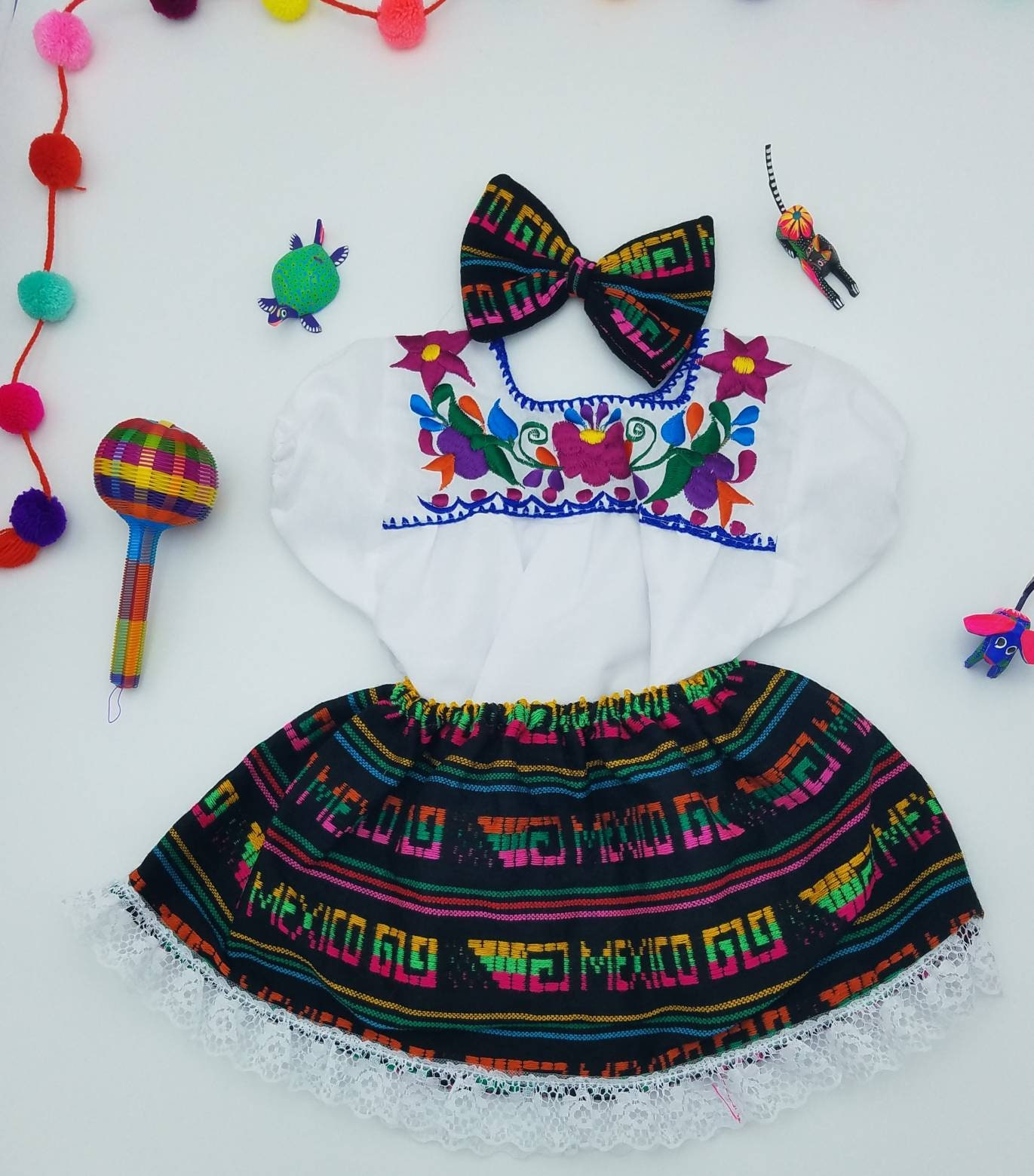 Baby Girl Mexican Outfit (Mexico) Cinco ...