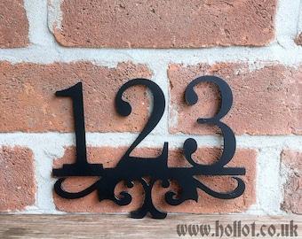 Elegant House Number - Steel/Metal