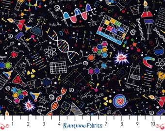 Science Fun | Timeless Treasures | Fabric By the Yard | Quilter's Cotton