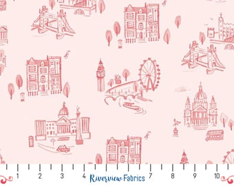 Notting Hill - London - Blush   Riley Blake   Fabric By the Yard   Quilter's Cotton