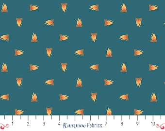 Camping Crew - Campfire - Lake   RJR Fabrics   Fabric By the Yard   Quilter's Cotton
