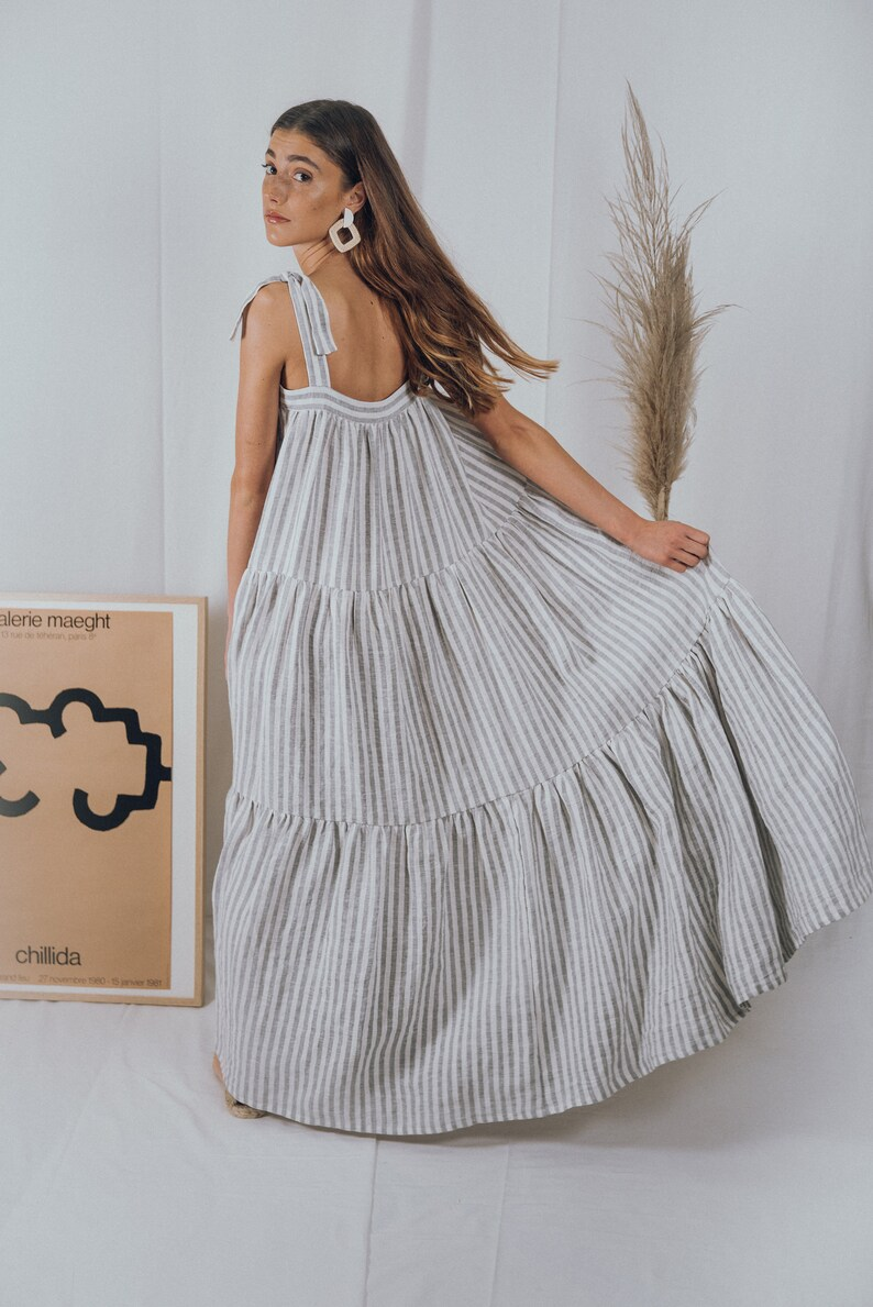 LINEN DRESSboho dressbohemian dresssummer dressbridesmaid dresswedding dressprairie dressmaxi dress70s dressvintage dress