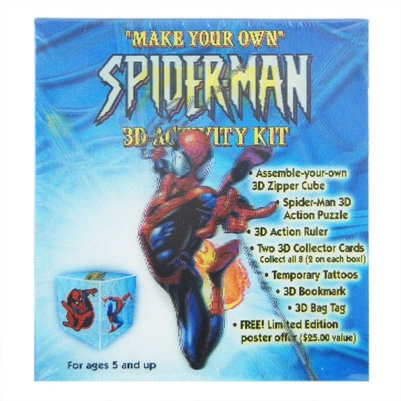 marvel spider man 3d activity box etsy