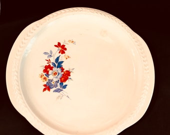 ba0b7169911d Vintage Laurella by universal plate platter with red and blue flowers