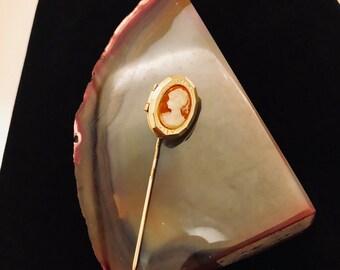 Cameo Locket Brooch Pin
