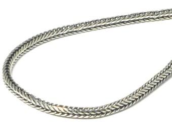 Halskette Edelstahl Silberfarben Panzer Länge 45 cm 46 cm 50 cm 61 cm Damen