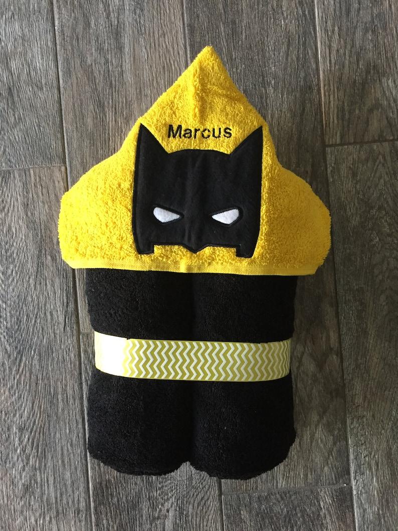 Spiderman Free Personalization Batman Ironman,Swim Towel Embroidered Gift Personalized Superhero Hooded Bath Towel