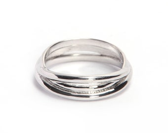 925 sterling silver ring , plain ring made by hand