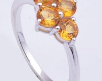 Citrine ring,925 sterling silver ring , Handmade ring, Citrine gemstone ring