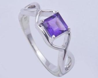 Handmade ring,925 sterling silver ring,Amethyst ring,sterling silver ring