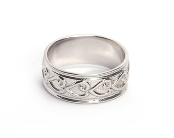 925 sterling silver plain ring made by hand