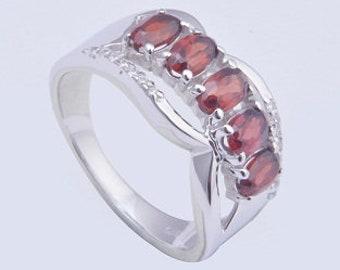 Garnet ring,925 silver ring,Handmade ring,sterling silver ring,charming ring