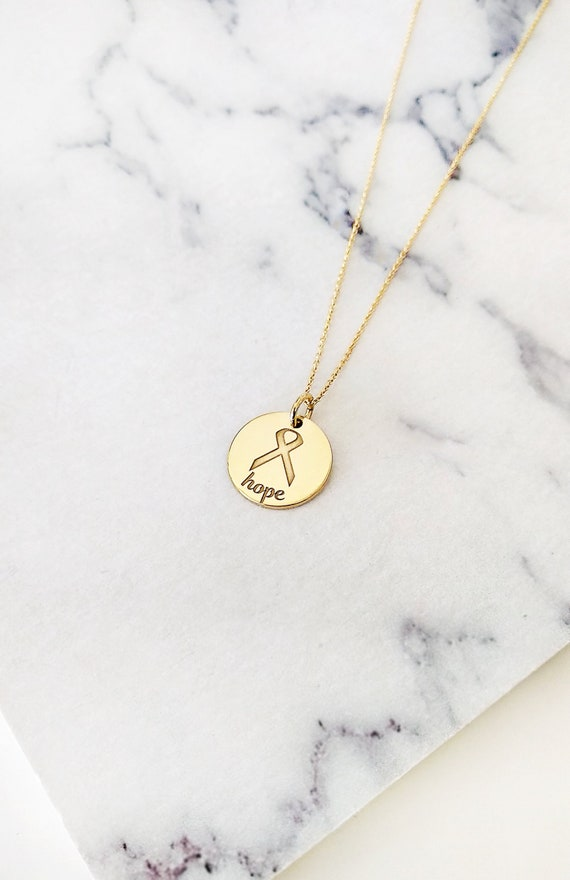 """13mm 1//2/"""" Engravable Reversible Disc Charm Pendant Real Solid 14K Yellow Gold"""