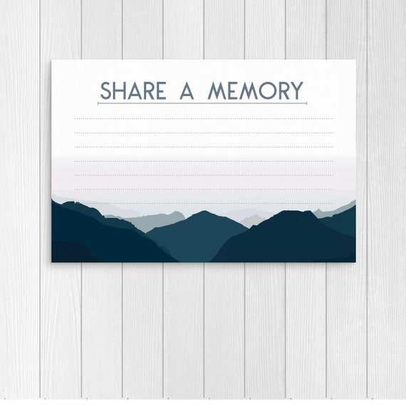 photo regarding Blue Mountain Printable Cards referred to as Blue Mountain Percentage a Memory Card Printable for Person Funeral Playing cards Mourning Playing cards Funeral Stationery Memorial Provider