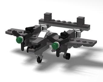 Micro Warbirds - P-38 Lightning - Green nose