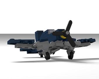Micro Warbirds - F-4U Corsair - dark blue