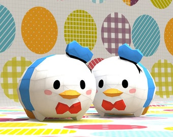 Papercraft Tsum Donald Paper Craft Animal Duck Model Sculpture Disney Toys Toy
