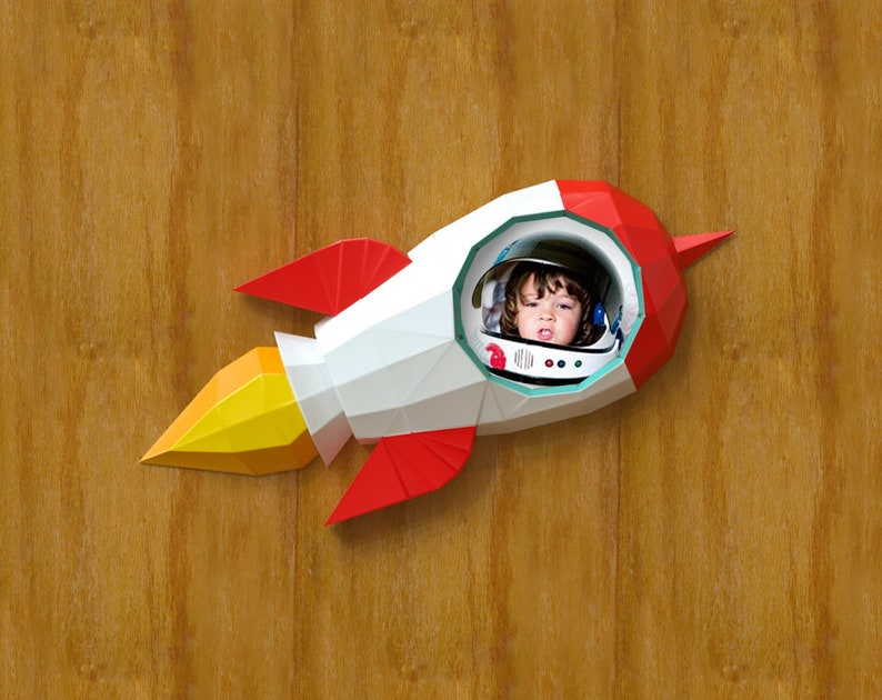 Photo Frame Rocket Papercraft Rocket Frame Space Ship