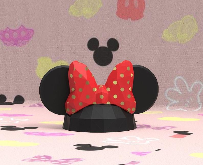 papercraft Minnie Hat , Papercraft disney, papercraft hat, minnie, paper  model, mickey mouse, paper sculpture, mickey, minnie mouse, disney
