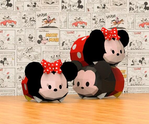 Papercraft Tsum Tsum Minnie Paper Craft Animal Paper Craft Etsy