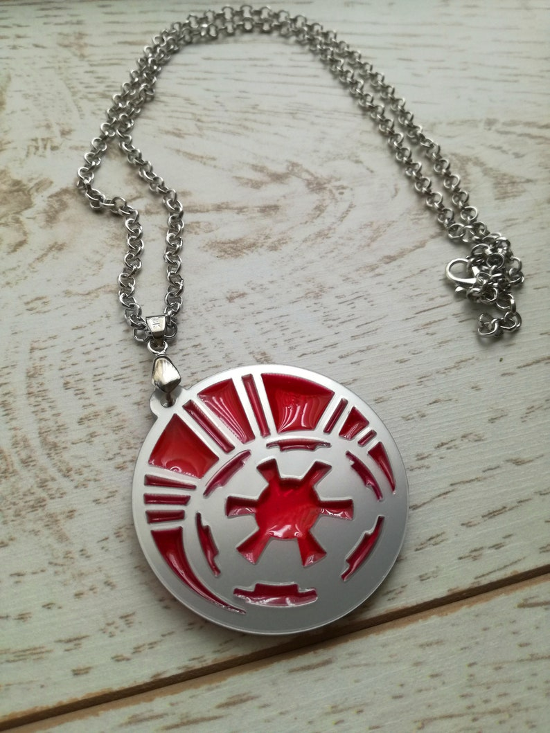 Star Wars Galactic Empire necklace  pendant Silver coloured UK SELLER