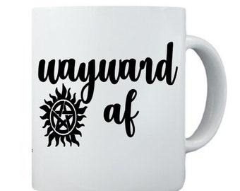 e86f3724557 Wayward AF Supernatural Coffee Mug. Supernatural Coffee Cup. Great for Gift!