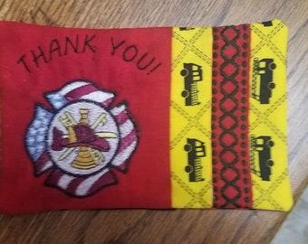 Fireman's mug rug