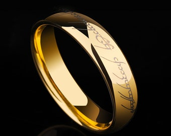 Lord Of The Rings Wedding Band.Lord Of The Rings Wedding Band Etsy
