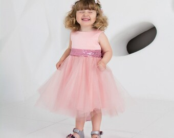 Licht Roze Jurk : Poeder roze jurken etsy