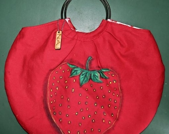 Red Strawberry Purse