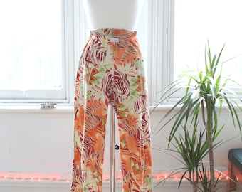 Vintage 90s Pattern Stretch Flare Trousers