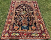 Antique Yagtarafa Pictorial Rug.Size 4.5x6.9 ft.