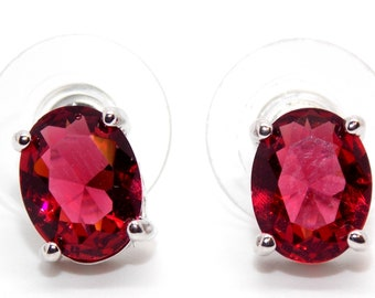 80fe72ccc Sterling Silver Ruby 3.45ct Stud Earrings (925) Free Gift Box
