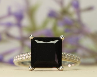 a284e3815c0f8 Princess cut onyx | Etsy