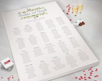 Baby Shower Kay/'s Weddings Prom Christening Table Seating Plan Chart 339 Personalised Wedding