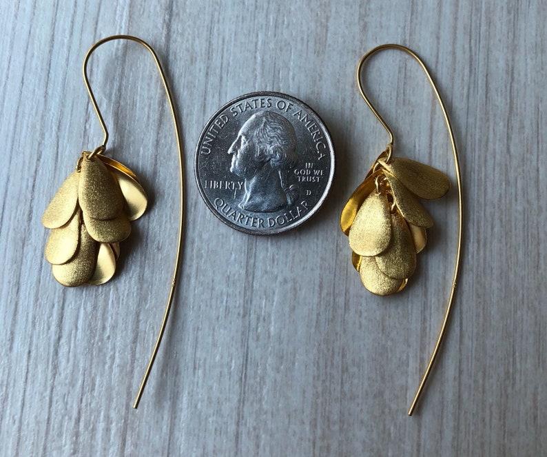 24K Plated Sterling Silver Earrings Sterling Silver Earrings Minimalist Earrings 100/% Handmade Earrings Modern Earrings