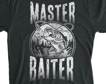 ab043262 Master Baiter Shirt Funny Fishing T-Shirt For Father, Grandpa, Birthday  Gift , Vacation Day, Fishing Lover