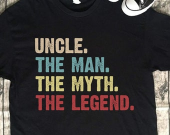 a7a26b153c Vintage Uncle The Man The Myth The Legend Uncle T-Shirt For Father, Grandpa,  Papa Gift Dad Cool Gift