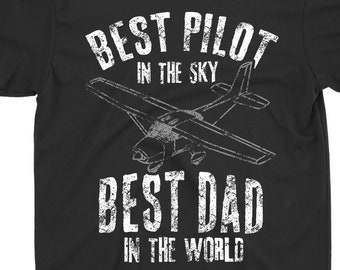 3cf0d21f Pilot T-Shirt Dad T-Shirt Father Shirt Gift : Mens Dad Father Airplane  Pilot T- Shirt Birth Day Gift